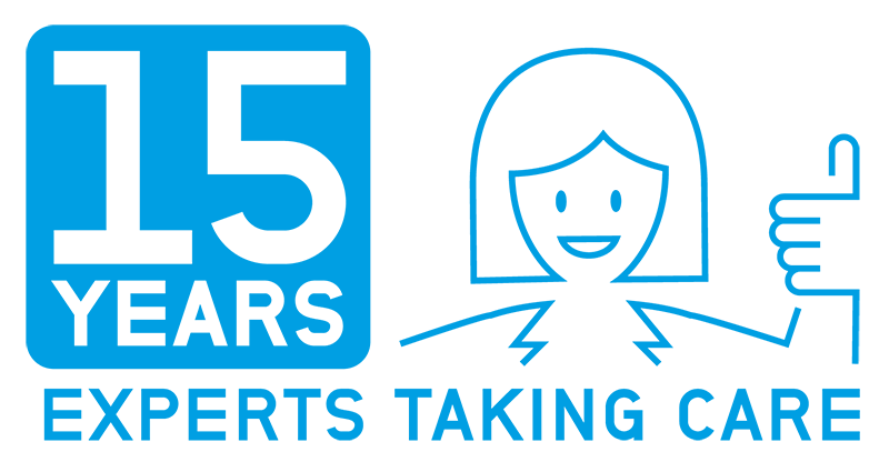 CordenPharma anniversary graphic 15 years experts taking care